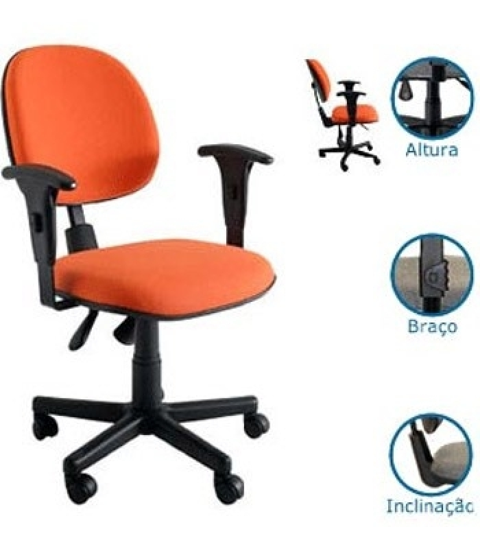 Cadeira para Escritório Operacional Perdizes - Cadeira Operacional Giratória Alta