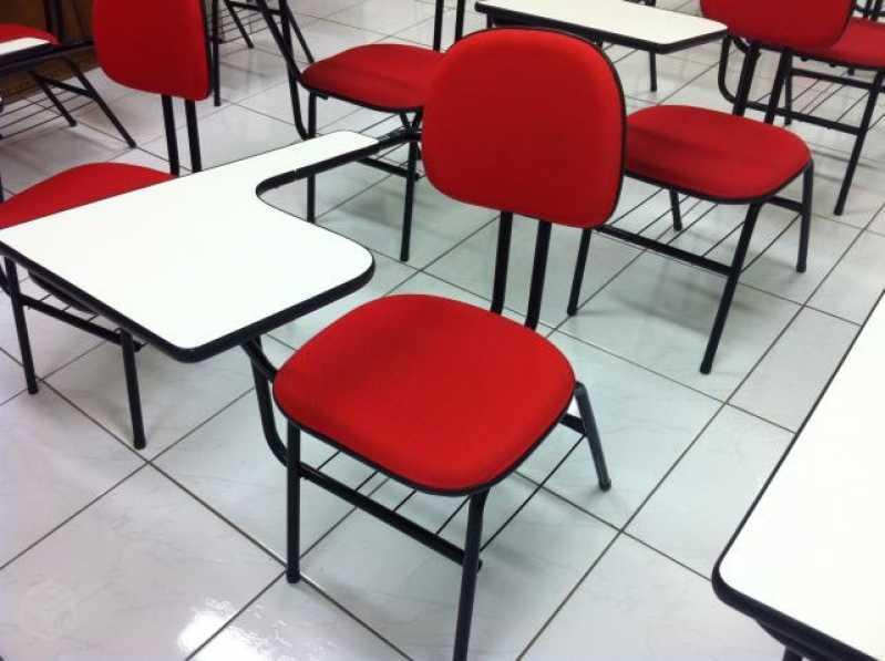 Cadeira Universitária com Porta Livros Avenida Deputado Emilio Carlos - Cadeira Universitária Braço Dobrável