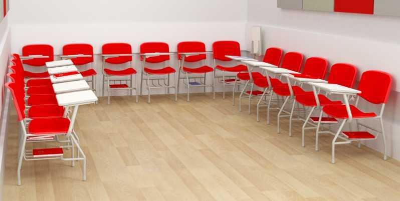 Cadeira Universitária com Prancheta Frontal Sacomã - Cadeira Universitária com Prancheta Frontal