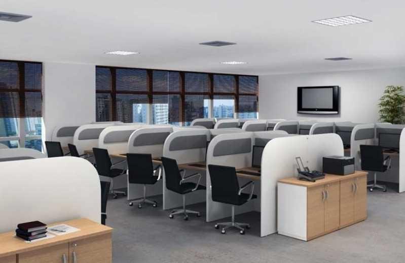 Estação de Trabalho Baia Valor Residencial Três - Estação de Trabalho 4 Lugares
