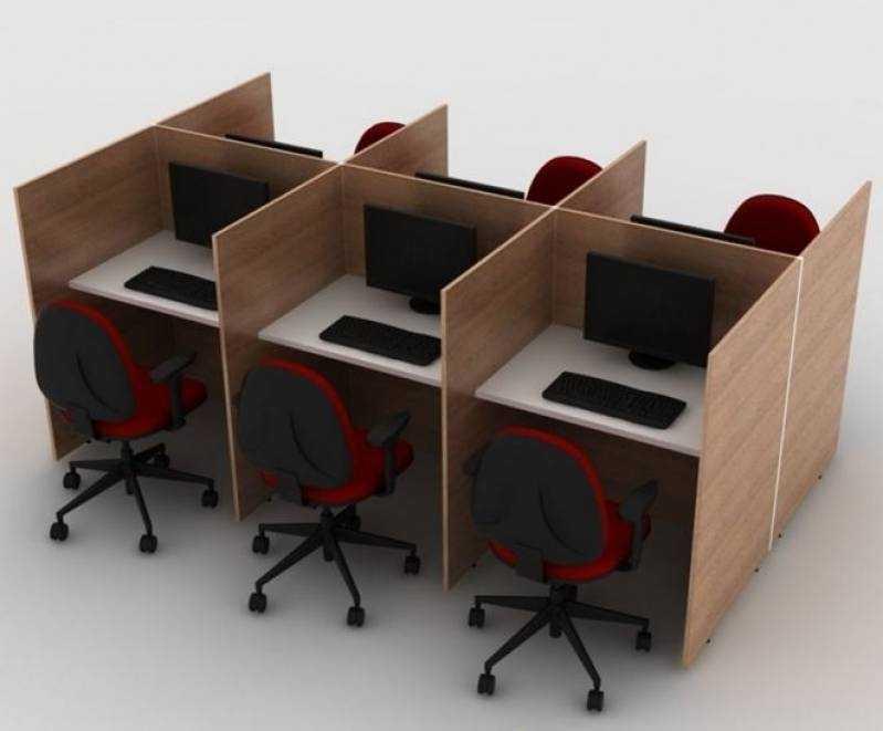 Estação de Trabalho Call Center Valor Residencial Cinco - Estação de Trabalho 4 Lugares