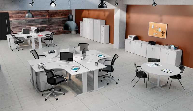 Estação de Trabalho com Divisória Valor Sumarezinho - Estação de Trabalho 4 Lugares