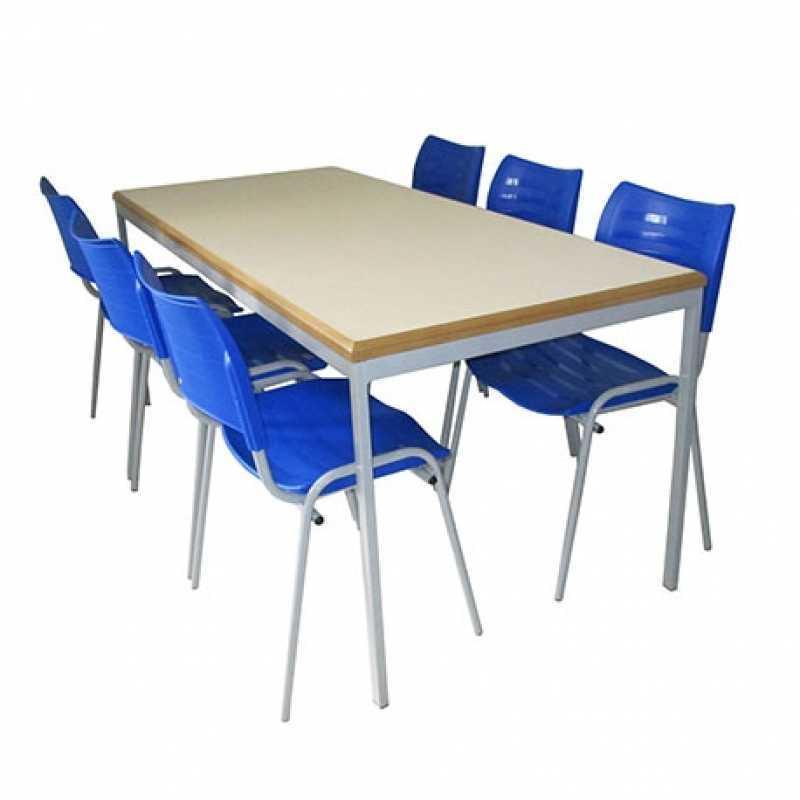 Mesas para Refeitorio Escolar Vila Roque - Mesa Refeitorio 8 Lugares