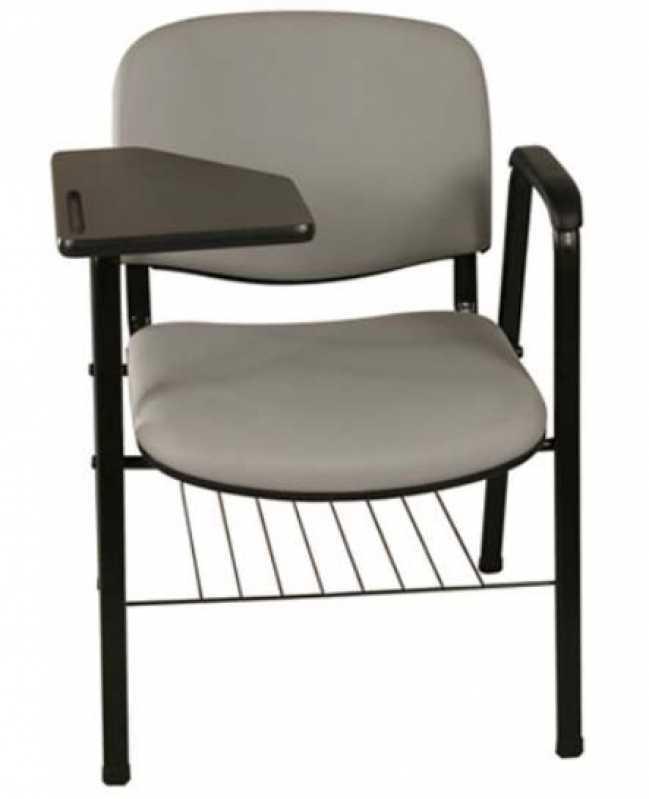Onde Encontro Cadeira Universitária com Prancheta Escamoteável Residencial Doze - Cadeira Universitária Acolchoada