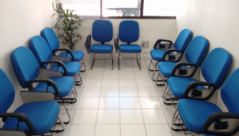 Onde Encontro Cadeira Universitária Estofada Barra Funda - Cadeira Universitária Braço Dobrável