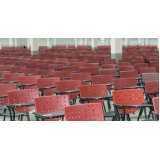 cadeira universitária braço dobrável preço Água Rasa