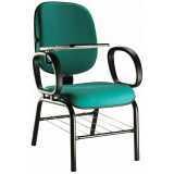 cadeira universitária com braço móvel casa verde