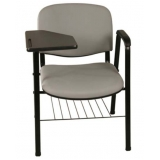 cadeira universitária com porta livros preço Cerqueira César