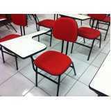 cadeira universitária com porta livros Alto de Pinheiros