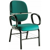 cadeira universitária com prancheta dobrável preço Jardim Silvia Maria