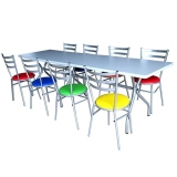 comprar mesa refeitorio 8 lugares Cidade Quarto Centenário
