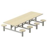 mesa conjugada para refeitorio Ipiranga