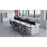 mesa para escritório com 2 gavetas Residencial Onze