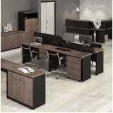 mesa para escritório com 3 gavetas Jardim Paulista