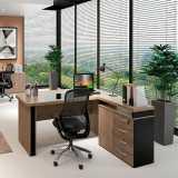 mesa para escritório com armário preço Santana