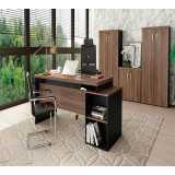 mesa para escritório com armário Vila Madalena