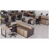 mesa para escritório de madeira preço Residencial Doze