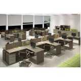 mesa para escritório de madeira Ibirapuera