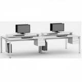 mesa para escritório plataforma 2 lugares peruche