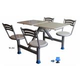 mesa para refeitório articulada vila diva