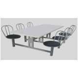 mesa para refeitório com bancos valor Jardim Tupanci