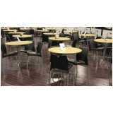 mesa para refeitório com cadeiras preço Jardins