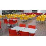 mesa para refeitório com cadeiras valor São Caetano do Sul