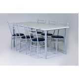 mesa para refeitório com cadeiras Parque Novo Mundo