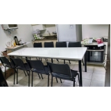 mesa para refeitório de madeira preço Jardim Iguatemi
