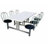 mesas conjugadas para refeitorio Cidade Monções