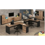 mesas para escritório com 3 gavetas Ibirapuera