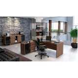 mesas para escritório com armário Brooklin