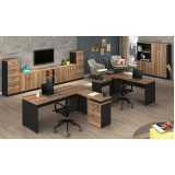 mesas para escritório com gaveta Consolação