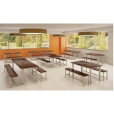 mesa para refeitório de madeira