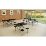 onde encontro mesa para refeitório de madeira Campo Belo